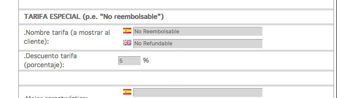 admin-online tarifa no reembolsable