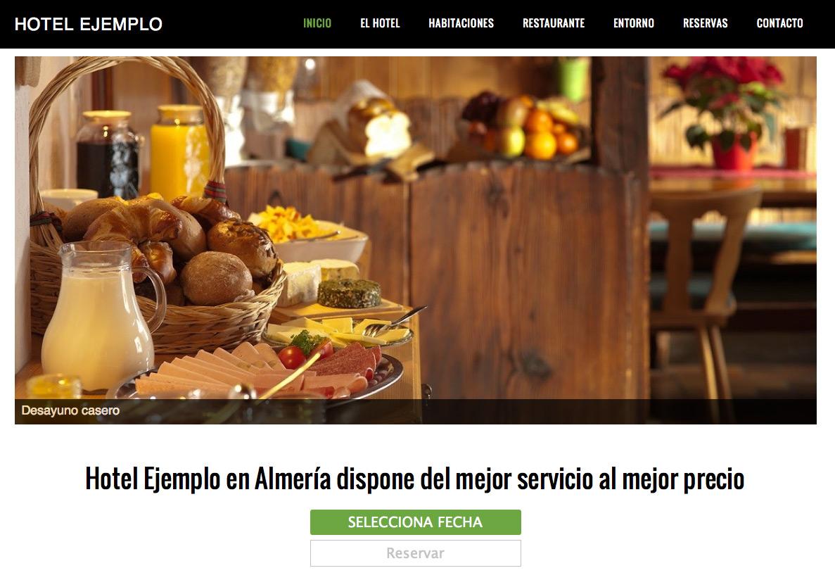 P Gina Web Para Hoteles Y Casas Rurales