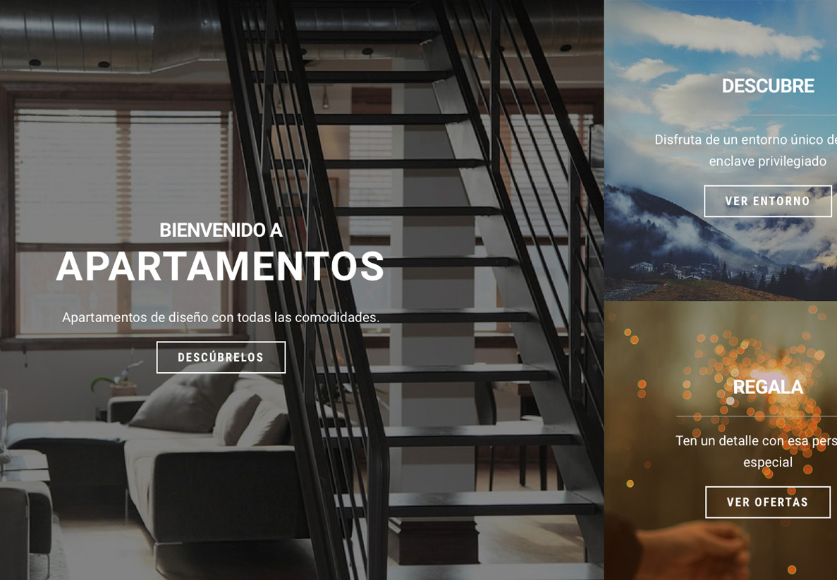 P gina web para hoteles y casas rurales for Paginas para disenar casas